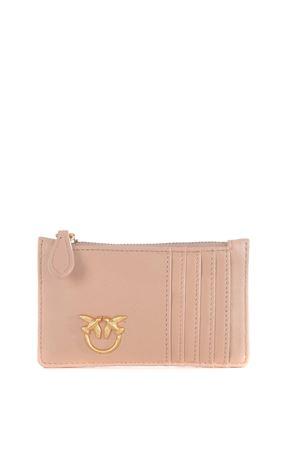 Porta carte di credito Pinko Airone in nappa PINKO | 10000020 | 1P21UB-Y6KTQ19