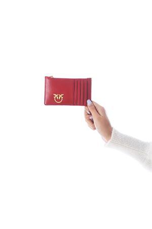 Porta carte di credito Pinko Airone in nappa PINKO | 10000020 | 1P21UB-Y6KTR72