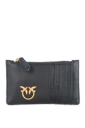 Pinko Airone credit card holder in nappa leather PINKO | 10000020 | 1P21UB-Y6KTZ99