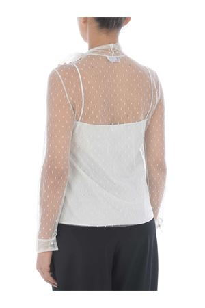 Red Valentino blouse in plumetis tulle