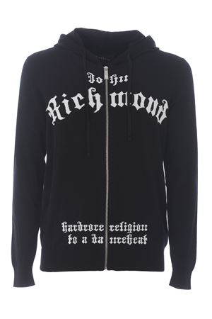 Richmond Gyala cardigan in merino wool blend RICHMOND | 850887746 | RMA20140CDBLACK
