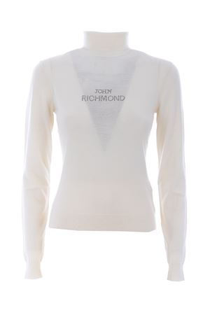 Richmond Papeari turtleneck in wool and cashmere blend RICHMOND | 7 | RWA20512LUCREAM