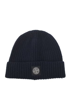 Stone Island hat in ribbed wool. STONE ISLAND | 26 | N10B5V0020