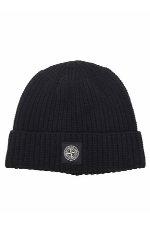 Stone Island hat in ribbed wool. STONE ISLAND | 26 | N10B5V0029