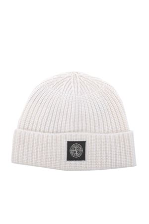Stone Island hat in ribbed wool. STONE ISLAND | 26 | N10B5V0099