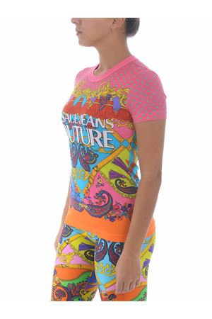 T-shirt Versace Jeans Couture in cotone VERSACE JEANS | 8 | B2HZA7PH30392-445