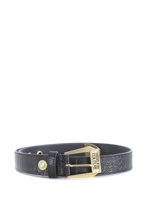 Black belt Versace Jeans Couture in leather.  VERSACE JEANS   22   D8VZAF1071629-899