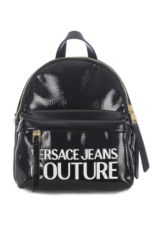 Versace Jeans Couture glamorous backpack in patent leather.  VERSACE JEANS | 10000008 | E1VZABP471412-MI9