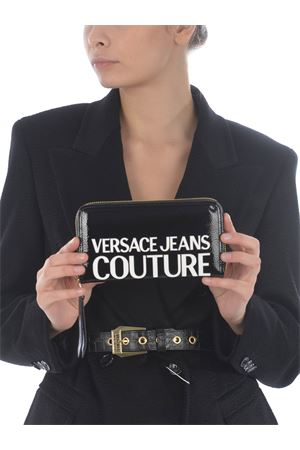 Versace Jeans Couture black wallet in synthetic vinyl.  VERSACE JEANS | 63 | E3VZAPP171412-MI9