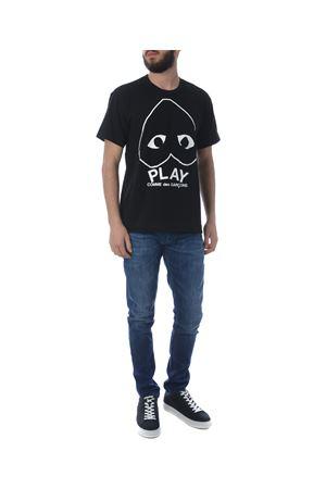 Comme des Garçons Play play logo cotton t-shirt COMME des GARCONS PLAY | 8 | P1T114BLACK