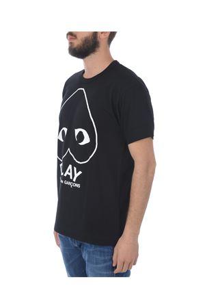 T-shirt Comme des Garçons Play play logo COMME des GARCONS PLAY | 8 | P1T114BLACK