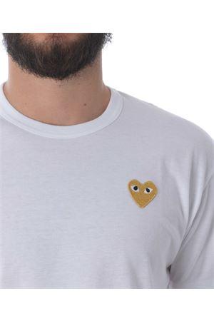 T-shirt Comme des Garçons Play gold heart COMME des GARCONS PLAY | 8 | P1T216WHITE