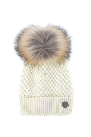Blauer hat in acrylic knit and pom poms BLAUER | 26 | BLDA052674787-102