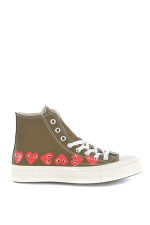 Comme des Garçons Play hi-top sneakers by Converse chuck 70 in canvas COMME des GARCONS PLAY | 5032245 | P1K116KHAKI