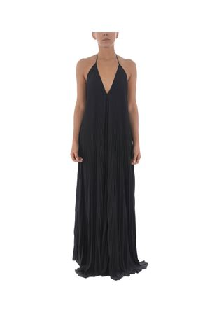 Dondup long dress in light pleated cady
