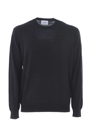 Dondup sweater in black wool and camel blend.  DONDUP | 7 | UM948M00655002-999