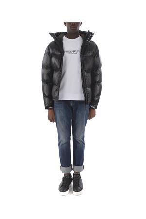 Emporio Armani down jacket in black shiny nylon.  EMPORIO ARMANI | 783955909 | 6G1BQ11NIHZ-0999