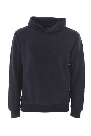 Emporio Armani sweatshirt in dark blue cotton blend.