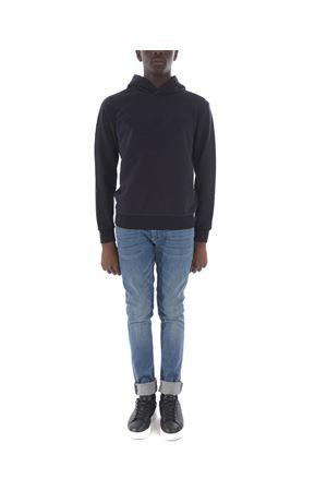 Emporio Armani sweatshirt in dark blue cotton blend.  EMPORIO ARMANI | 10000005 | 6G1MB61J36Z-0922