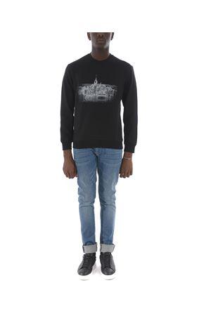 Emporio Armani light sweatshirt in black cotton blend.  EMPORIO ARMANI | 10000005 | 6G1MF41J07Z-0999