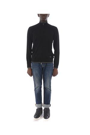 Emporio Armani cardigan in black viscose blend.  EMPORIO ARMANI | 850887746 | 6G1MYL1MPQZ-0999