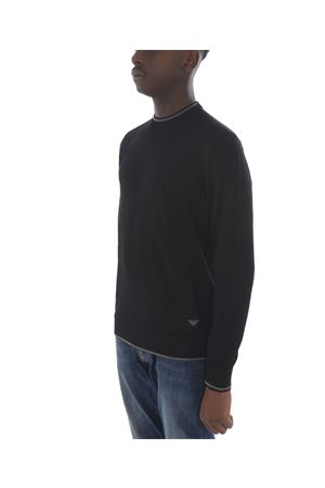 Emporio Armani sweater in black viscose blend EMPORIO ARMANI | 7 | 6G1MYM1MPQZ-0999