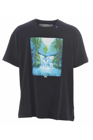 T-shirt Off White waterfall over OFF WHITE | 8 | OMAA038E191850151088