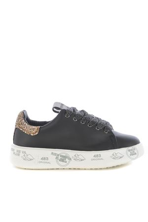 Premiata sneakers in black leather PREMIATA | 5032245 | BELLE4025