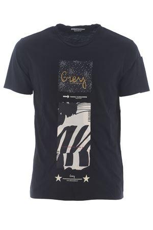 T-shirt Grey Daniele Alessandrini Pop Art a Torre in cotone D.A. DANIELE ALESSANDRINI | 8 | M7489E643-1