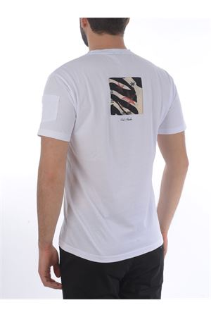 Grey Daniele Alessandrini Pop Art a Tower t-shirt in cotton D.A. DANIELE ALESSANDRINI | 8 | M7489E643-2