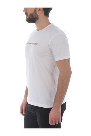 Grey Daniele Alessandrini Creme Caramel T-shirt in stretch cotton D.A. DANIELE ALESSANDRINI | 8 | M9186A33-2