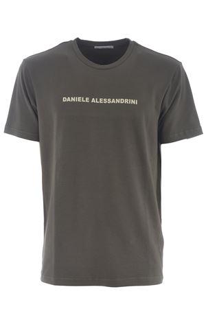 Grey Daniele Alessandrini Creme Caramel T-shirt in stretch cotton D.A. DANIELE ALESSANDRINI | 8 | M9186A33-33