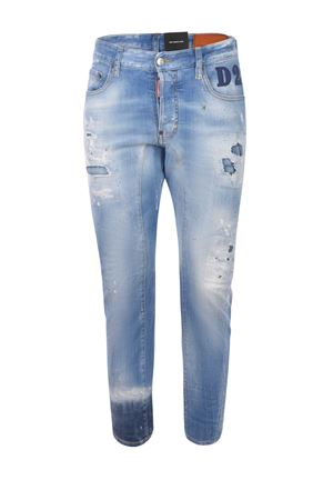 Dsquared2 Tidy Biker Jean  stretch denim jeans  DSQUARED | 24 | S74LB0853S30342-470