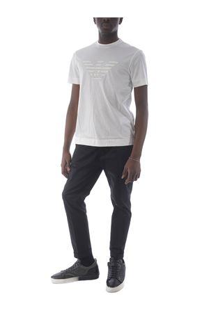 Emporio Armani cotton and lyocell blend T-shirt EMPORIO ARMANI | 8 | 3K1TAG1JUVZ-0162