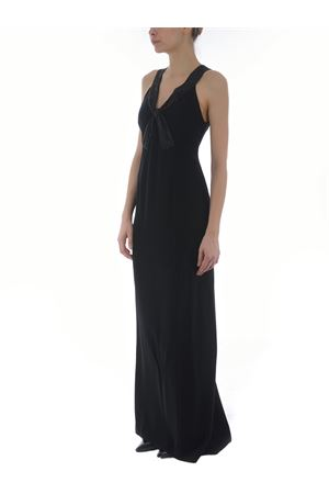 Emporio Armani long dress in cady EMPORIO ARMANI | 11 | 3K2A842NWAZ-999