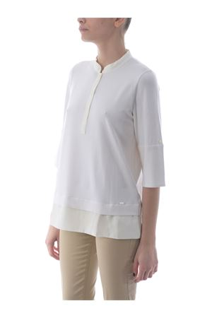 Fay stretch viscose sweater with silk profiles FAY | 7 | NPWB842608STGRB001