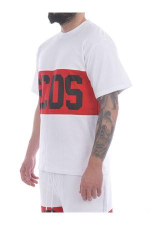 GCDS Band Logo cotton T-shirt GCDS   8   CC94M021014WHITE