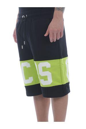 Shorts GCDS Band Logo in felpa di cotone GCDS | 30 | CC94M031004LIME