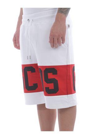 GCDS Band Logo shorts in cotton fleece GCDS | 30 | CC94M031004WHITE