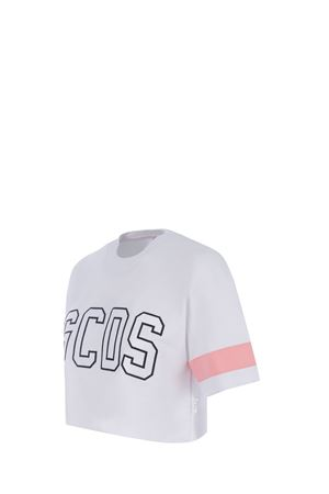 T-shirt GCDS Cropped Logo in cotone GCDS | 8 | CC94W020611WHITE