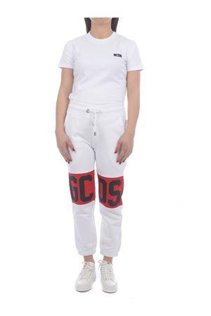 Pantaloni di tuta GCDS Band Logo in cotone GCDS | 9 | CC94W031001WHITE