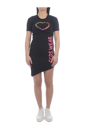 GCDS Little Miss Chatterbox cotton dress GCDS | 11 | MM21W020171BLACK