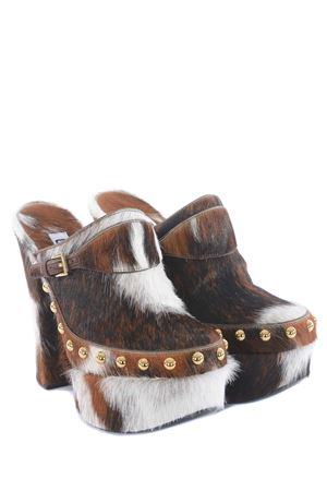 GCDS pony skin clogs GCDS | 12 | SS21W010018BROWN