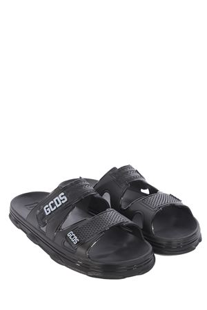 GCDS Rubber sandals in rubber GCDS | 5032249 | SS21W010310BLACK