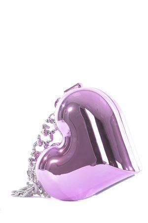 GCDS Heart plastic bag  GCDS | 31 | SS21W010600FUXIA