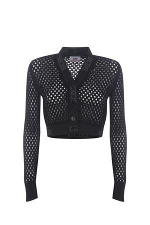 GCDS Grid knitted cardigan GCDS | 850887746 | SS21W020023BLACK
