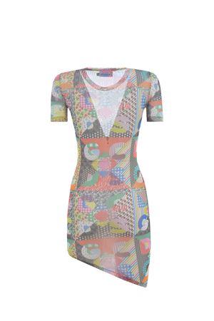GCDS Messy asymmetrical dress in stretch tulle GCDS | 11 | SS21W020035MIX