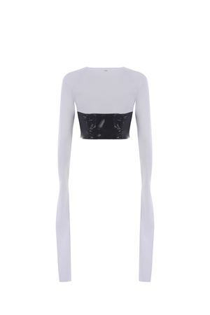 GCDS Corset vinyl cotton top GCDS | 40 | SS21W020040WHITE