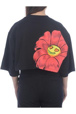 T-shirt GCDS Flower cropped  in cotone GCDS | 8 | SS21W020169BLACK