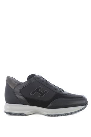 Sneakers Hogan Interactive in nabuk e pelle HOGAN | 5032245 | HXM00N0Q101PDH175E